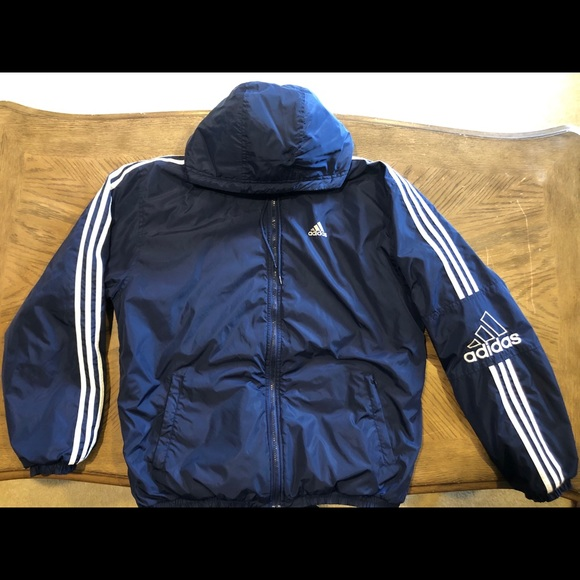 adidas fleece blue